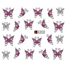 Water Tattoo Butterflies - 353