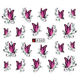 Water Tattoo Butterflies - 360