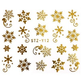 Water Tattoo Snowflakes - 012 gold