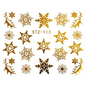 Water Tattoo Snowflakes - 013 gold