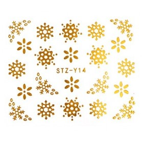 Water Tattoo Snowflakes - 014 gold