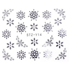 Water Tattoo Snowflakes - 014 silver