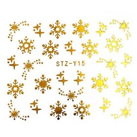 Water Tattoo Snowflakes - 015 gold