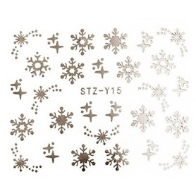 Water Tattoo Snowflakes - 015 silver