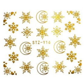 Water Tattoo Snowflakes - 016 gold
