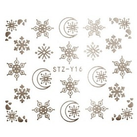 Water Tattoo Snowflakes - 016 silver