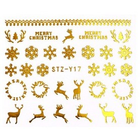 Water Tattoo Snowflakes - 017 gold