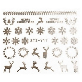 Water Tattoo Snowflakes - 017 silver
