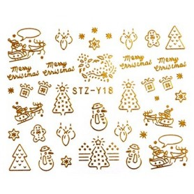 Water Tattoo Snowflakes - 018 gold
