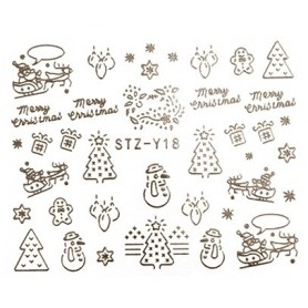 Water Tattoo Snowflakes - 018 silver