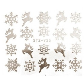 Water Tattoo Snowflakes - 025 silver