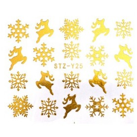Water Tattoo Snowflakes - 025 gold