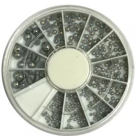 Half Pearls Silver AB in wheel