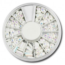 Half Pearls White AB D170 in wheel