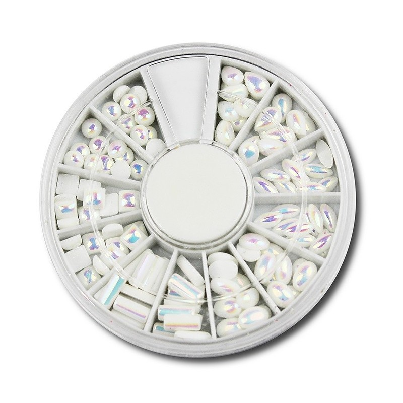 Half Pearls White AB D170 in wheel