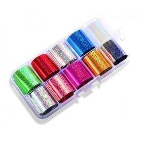 22 - Nail Art Foil Kit 10 designs