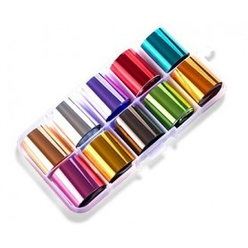 25 - Nail Art Foil Kit 10 designs