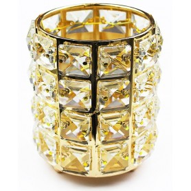 Brush Box Crystal - Gold