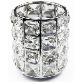 Brush Box Crystal - Silver