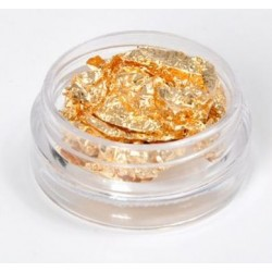 Nail Art foil Gold in 3 ml jars
