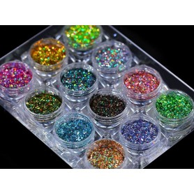 Glamour Mix Glitter Kit 12colors in box