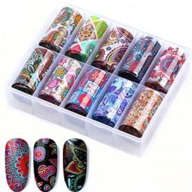 101 - Nail Art Foil Kit 10 designs