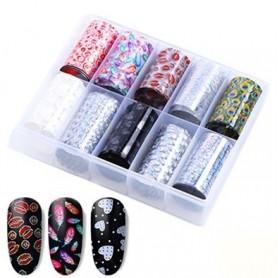 103 - Nail Art Foil Kit 10 designs