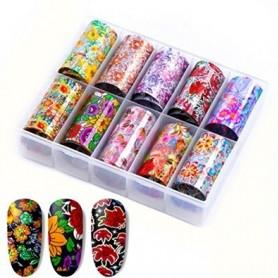 104 - Nail Art Foil Kit 10 designs