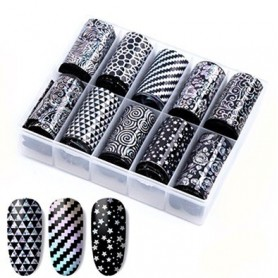 105 - Nail Art Foil Kit 10 designs