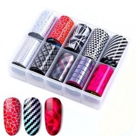 107 - Nail Art Foil Kit 10 designs