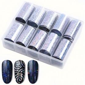 114 - Nail Art Foil Kit 10 designs