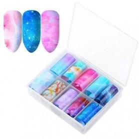127 - Nail Art Foil Kit 10 designs