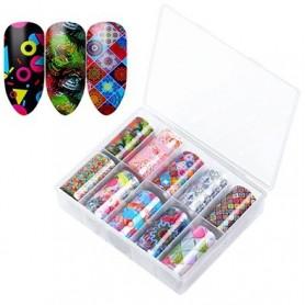 129 - Nail Art Foil Kit 10 designs