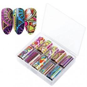 130 - Nail Art Foil Kit 10 designs