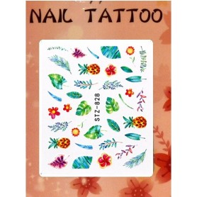 Water Tattoo Floral - 828