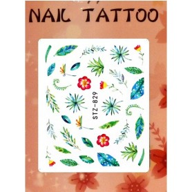 Water Tattoo Floral - 829