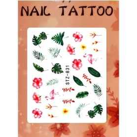 Water Tattoo Floral - 831