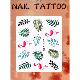 Water Tattoo Floral - 832