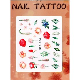 Water Tattoo Floral - 834