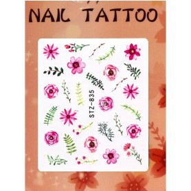 Water Tattoo Floral - 835