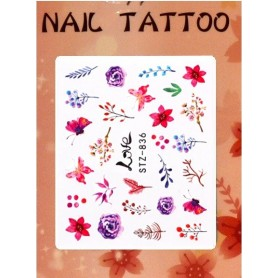Water Tattoo Floral - 836