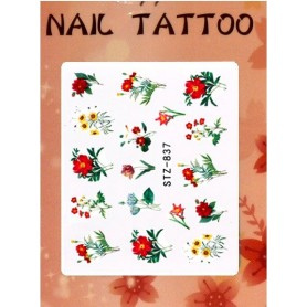 Water Tattoo Floral - 837