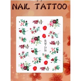 Water Tattoo Floral - 839