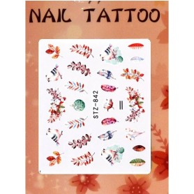 Water Tattoo Floral - 842