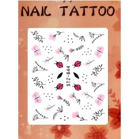 Water Tattoo Floral - 844