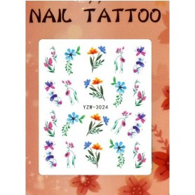 Water Tattoo Floral - 924