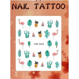 Water Tattoo Floral - 925
