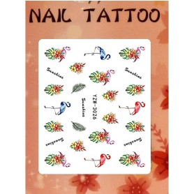 Water Tattoo Floral - 926