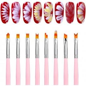 Flower Nail Art Brush Set 8 delar