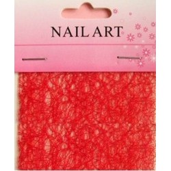 300 -Nail Art Spider Net Red